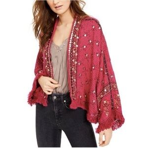 FP Rays of Light Printed Sequin Fringed Jacket